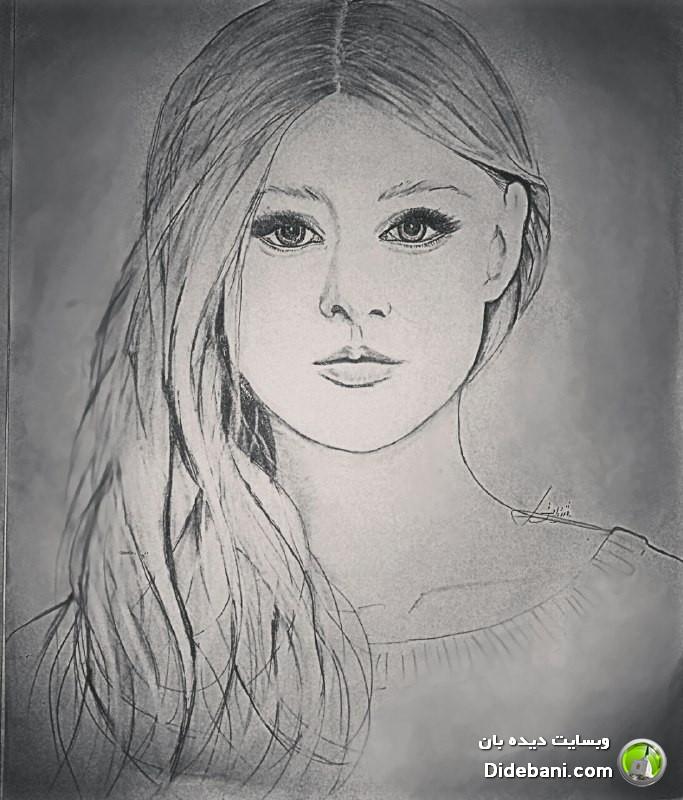 طراحی های زیبا با مداد و خودکار توسط هنرمند دیده بانی خانم شقایق انصاری