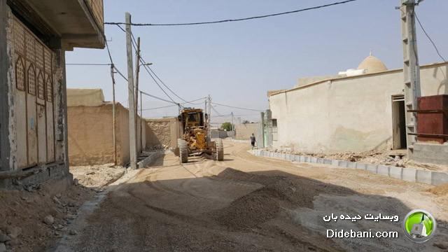 عملیات زیرسازی خیابان شهید حسن شکور دیده بان