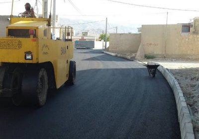 عملیات عمرانی آسفالت خیابان شهید شکور دیده بان
