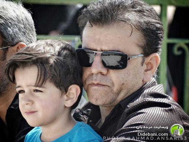 جابر انصاری و فرزندش