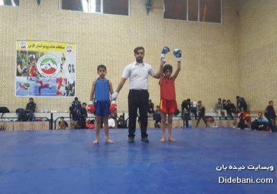 قهرمانی مرصاد پورمهدی در مسابقات ووشو قهرمانی استان فارس