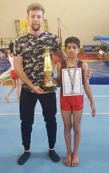 قهرمانی مرصاد پورمهدی در مسابقات ژیمناسیتک در پرش خرک