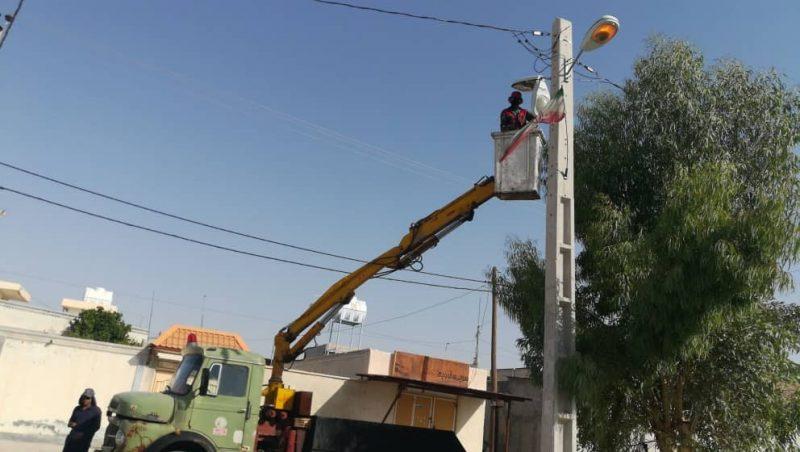 تعویض روشنایی بلوار شهید پالاهنگ