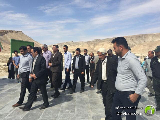 افتتاح گلزار شهدای دیده بان