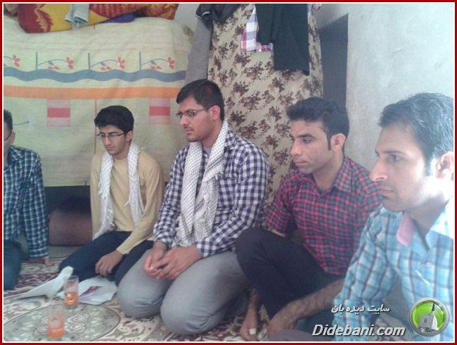 کاروان دانشجویان دانشکده پرستاری حضرت زینب لارستان در بخش صحرای باغ