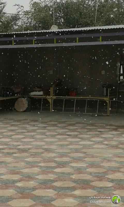 بارش برف در دیده بان