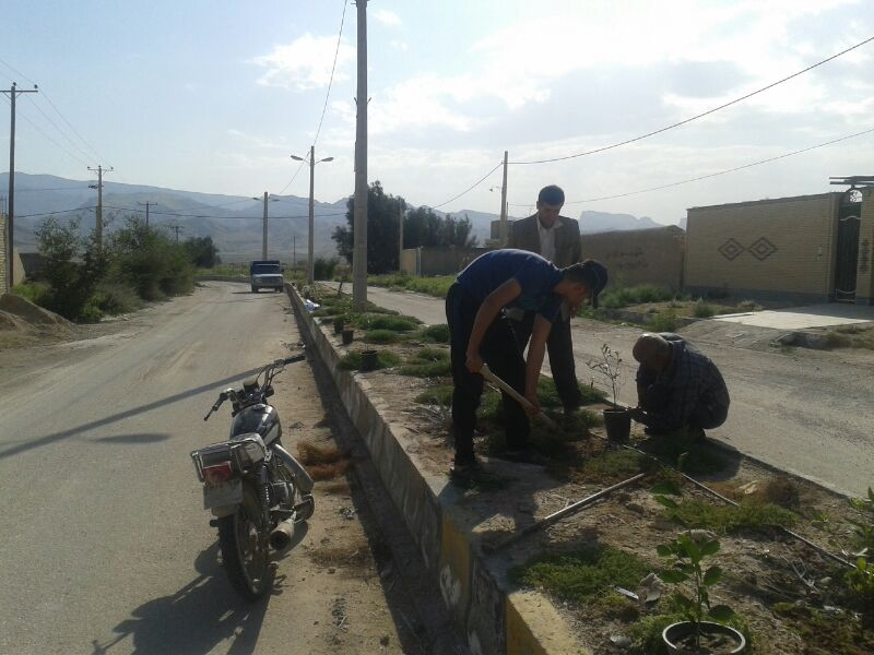 پروژه درختکاری ، پاکسازی و سنگ فرش ضلع جنوبی بلوار شهید پالاهنگ دیده بان