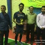 علی صابری بهترین بازیکن و آقای گل