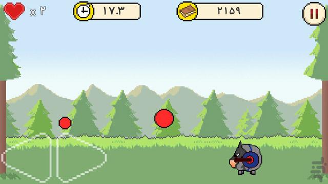 """بازی آندرویدی """"شیپولف - توپ مرگبار """" ساخته شده توسط افشین انصاری"""