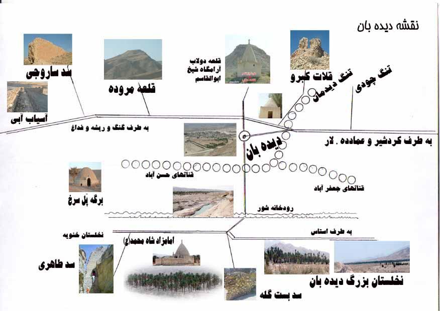 نقشه روستای دیده بان
